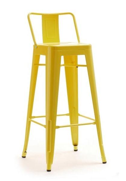 Krzesło barowe metalowe hoker ALFREDO STOOL 1 żółty Mebel