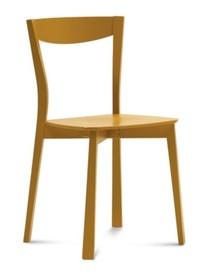 Krzesło Chili wyprodukowane przez Domitalia. Struktura krzesła wykonana została z drewna bukowego, a siedzisko oraz oparcie zostało stworzone ze...