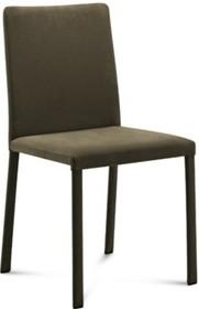 Krzesło Chloe-A wyprodukowane przez Domitalia.  Krzesło posiada stalową ramę, jednak nie widać jej gołym okiem, ponieważ jest w całości...