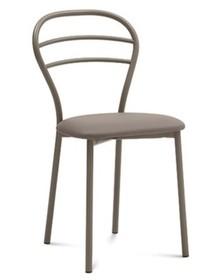 Krzesło Connie wyprodukowane przez Domitalia.  Krzesło posiada metalowa, lakierowaną ramę oraz siedzenie tapicerowane ekoskórą Bloom....