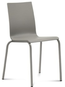 """Krzesło ELSA wyprodukowane przez Domitalia. Posiada metalowa, lakierowaną ramę oraz siedzenie i oparcie w formie """"muszli"""" stworzone z..."""