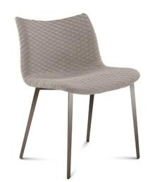 """Krzesło Fenice-Tr wyprodukowane przez Domitalia.  Posiada metalowa, lakierowaną ramę oraz siedzenie i oparcie w formie """"muszli"""" w całości..."""