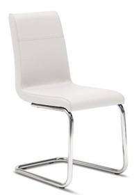 Krzesło ROXY-ST wyprodukowane przez Domitalia.<br />Krzesło posiada metalowy stelaż z okrągłymi płozami oraz tapicerowane ekoskórą Bloom...
