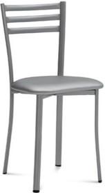 Krzesło TIME wyprodukowane przez Domitalia.<br />Krzesło posiada metalowy stelaż oraz siedzenie tapicerowane ekoskórą Bloom.<br...