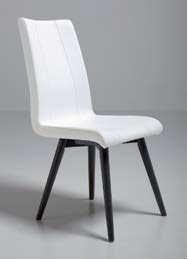 Krzesło MINA ma stelaż wykonane z drewna bukowego. Stelaż dostępny jest w dwóch wybarwieniach: buk wybarwiany na grafit lub białą anilinę. Siedzisko i...