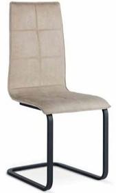 Włoskie krzesło IRIS-H ze stelażem metalowym na płozach. Do wyboru jest podstawa chromowana lub malowana na grafit. Siedzisko zostało zatapicerowane w eko...