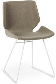 Krzesło MEG, z podstawą metalową, dostępna w 3 kolorach - chrom, malowana na biało lub grafit. Siedzisko tapicerowane w eko skórę lub...