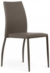 Krzesło Taffy w całości tapicerowane wysokiej jakości eko skórą, dostępna w dwóch kolorach: kolor sznurkowy lub błoto.<br...