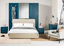 Ekskluzywne łóżko GLAM od Notte Brava jest kwintesencją włoskiego rzemiosła i stylu.<br />Łóżko z tapicerowanym obwodem oraz...