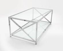 Nowoczesna ława TE jest wykonana z najwyższej jakości stali nierdzewnej, z dwoma blatami ze szkła transparentnego. Zastosowanie ławy może być w domu, w...