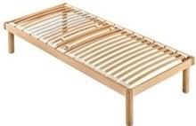 Stelaż pod materac/ łóżko w całości wykonane z drewna.<br />Rama, nóżki oraz podstawa z listwami wykonane są ze sklejki bukowej...