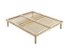 Podwójny stelaż pod materac/ łóżko w całości wykonane z drewna.<br />Rama, nóżki oraz podstawa z listwami wykonane są ze...
