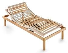 Elektryczny stelaż pod materac/ łóżko w całości wykonane z drewna.<br />Rama, nóżki oraz podstawa z listwami wykonane są ze sklejki...