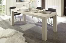 Stół nierozkładany PALMIRA o wymiarach 180/88cm, wykonany z płyty laminowanej w kolorz dębu bielonego. Stół idealnie pasuje do nowocześnie...