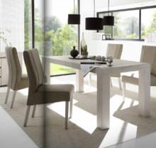 Włoski stół rozkładany PALMIRA o wymiarach 140/88 +80cm z płyty MDF w kolorze dębu bielonego. Stół idealnie pasuje do nowoczesnych wnętrz,...