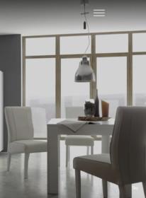 Krzesło PALMIRA, posiada drewniane nóżki w kolorze bielonego dębu. Siedzisko i oparcie krzesła wykonane jest z eko skóry w kolorze ciemnego...
