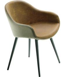 Krzesło SONNY S-Q z podstawą metalową. Nóżki podstawy mają kształt kwadratowy i mogą być malowane w trzech kolorach - biały, grafitowy lub piaskowy....