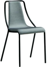 Krzesło OLA S CU - siedzisko i oparcie wykonane ze skóry naturalnej lub regenerowanej twardej. Stelaż krzesła wykonany jest z metalu i pomalowany na kolor...