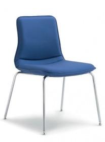 INCA IN202 to krzesło konferencyjne. Krzesło jest tapicerowane, bez podłokietników. Podstawa krzesła to chromowane cztery nogi oraz rama.<br...