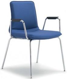INCA IN203 to krzesło konferencyjne. Krzesło jest tapicerowane, posiada podłokietniki. Podstawa krzesła to chromowane cztery nogi oraz rama.<br />Te...