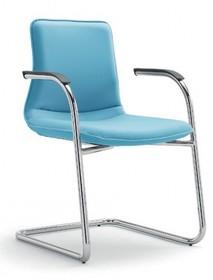 INCA IC221 to krzesło konferencyjne. Krzesło jest tapicerowane, posiada podłokietniki. Rama krzesła jak i nogi typu płozy wykonane są z lakierowanego...