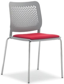 KALIMA KL131C to czteronożne krzesło konferencyjne posiadające chromowaną ramę. Nie posiada podłokietników. Siedzenie i oparcie wykonane z...