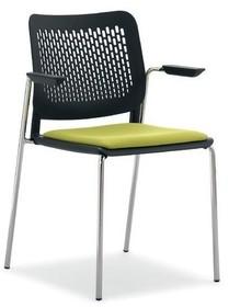 KALIMA KL132C to czteronożne krzesło konferencyjne posiadające chromowaną ramę. Krzesło posiada podłokietniki. Siedzenie i oparcie wykonane z...
