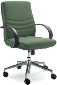 Alfa AF002 to fotel pracowniczy. Wyposażony w niższe oparcie oraz czarne, nylonowe podłokietniki. Podstawa to krzyżak z czarnego nylonu, posiadająca...