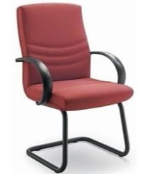 Alfa AF003N to fotel konferencyjny. Wyposażony w niższe oparcie i oraz czarne, nylonowe podłokietniki. Podstawa to lakierowane płozy. Fotel stabilny, nie...