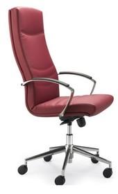 Alfa AF011 to fotel gabinetowy. Wyposażony w wysokie oparcie oraz podłokietniki pokryte warstwą wierzchnią z czarnego PU. Podstawa to krzyżak z czarnego...