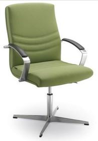 Alfa AF015 to fotel konferencyjny. Wyposażony w niższe oparcie oraz lakierowany, stalowy stelaż. Posiada podłokietniki, wykończone z wierzchu...