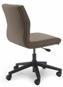 Bridge BG103D to fotel pracowniczy. Podstawa to pięcioramienny czarny, nylonowy krzyżak wyposażony w nylonowe kółka Ø50 mm z systemem...