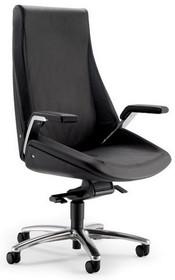 CINQUANTA CQ001 to fotel gabinetowy. Wyposażony w wysokie oparcie. Posiada aluminiowe podłokietniki z tapicerowanym wierzchem. Podstawa to pięcioramienny...