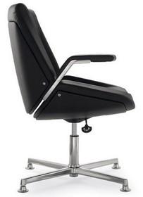 CINQUANTA CQ003D to fotel konferencyjny. Wyposażony w niskie oparcie. Podstawa to czteroramienny aluminiowy krzyżak. CINQUANTA CQ003D jest obrotowy. Posiada...