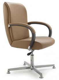 KIRIA KI175 to fotel konferencyjny. Wyposażony w niskie oparcie. Posiada drewniane podłokietniki tapicerowane z wierzchu. Podstawa to pięcioramienny...