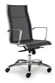 LUX LX601B to fotel gabinetowy. Wyposażony siatkowane, wysokie oparcie. Posiada chromowane, aluminiowe podłokietniki. Podstawa to pięcioramienny aluminiowy,...
