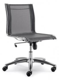 LUX LX602 to fotel pracowniczy. Wyposażony siatkowane, niskie oparcie. Nie posiada podłokietników. Podstawa to pięcioramienny aluminiowy, lakierowany...