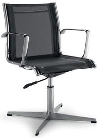 LUX LX605 to fotel konferencyjny. Posiada chromowane, aluminiowe podłokietniki, aluminiowy stelaż. Podstawa to krzyżak, wykonany także z aluminium.<br...