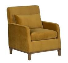 LILY nowoczesny fotel - żółty
