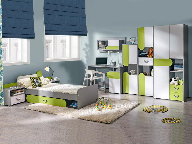 bia o zielony zestaw mebli m odzie owych futuro 2 m3kraj meble sklep. Black Bedroom Furniture Sets. Home Design Ideas