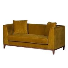 Sofa nowoczesna 2-osobowa LILY - żółty
