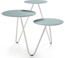Potrójny stolik kawowy Apelle Trio jest meblem pochodzącym z rodziny MIDJ z kolekcji Apelle.<br />Stolik wykonany z dbałością o każdy,...