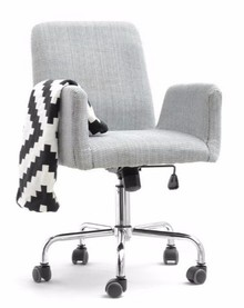 Fotel obrotowy tapicerowany LOMAX - szary