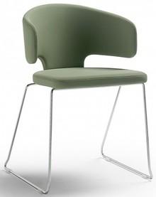 Fotel tapicerowany PRETTY to klasyczny mebel przedstawiony w nowoczesnym wydaniu.<br />Stelaż krzesła wraz z czterema nogami zakończonymi dwiema...
