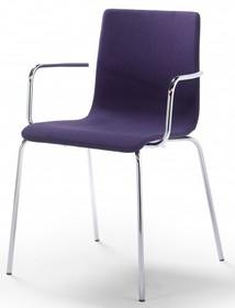 Klasyczne krzesło z podłokietnikami TESA FABRIC AR posiada chromowany bądź lakierowany stelaż oraz tapicerowane siedzisko z oparciem.<br />Dodatkowo...