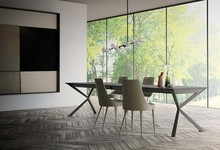 Blat stołu wykonany jest z melaminy, szkła lub ceramiki. Cena stołu różni się w zależności od wybranego tworzywa blatu. Grubość blatu wynosi...