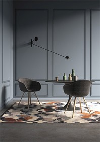 Oryginalne krzesło SMACK pochodzi z najnowszego katalogu włoskiej firmy MADRASSI.<br />Podstawa krzesła wykonana jest z drewna jesionu w kolorze...
