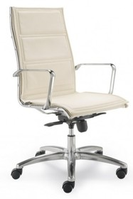 LUX LX801 to fotel gabinetowy. Posiada chromowane, aluminiowe podłokietniki. Podstawa to krzyżak, wykonany także z aluminium wyposażony w nylonowe...