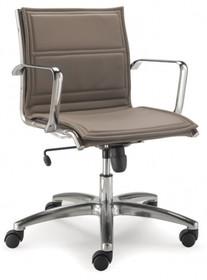 LUX LX802 to fotel pracowniczy, posiadający niskie oparcie. Posiada chromowane, aluminiowe podłokietniki. Podstawa to krzyżak, wykonany także z aluminium...
