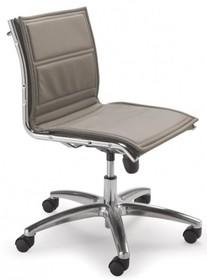 LUX LX802D to fotel pracowniczy, posiadający niskie oparcie. Nie posiada podłokietników. Podstawa to krzyżak, wykonany także z aluminium wyposażony w...